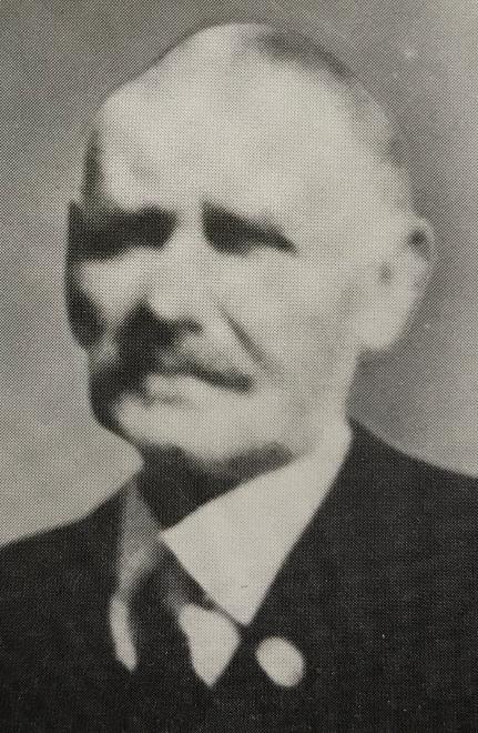 Abbildung: Friedrich Fahrbach, Vorstandsvorsitzender 1920-1933  (Quelle: Raiffeisenbank Niedernhall eG, Festschrift, 1988, S. 15)
