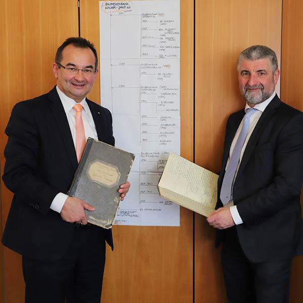 VM Martin Krenkler und VV Andreas Siebert